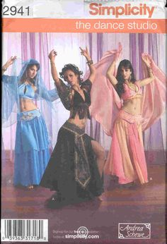 Simplicity Pattern  2941 -UNCUT-  Costume SEXY Harem girl, Genie or Belly dance outfit Misses sz. 6 to 12