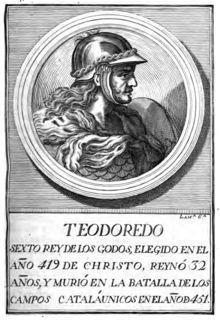 Teodorico I o Teodoredo (¿? – 451) fue un rey de los visigodos. Era hijo ilegítimo de Alarico,1 y en el año 418 sucedió a Walia, reinando hasta el 451. Con él comienza el linaje de Tolosa (Toulouse). Completó el asentamiento de los visigodos en Aquitania y expandió sus dominios a Hispania.
