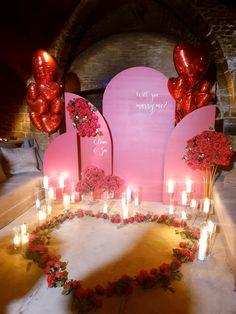 Romantic Room Surprise, Romantic Proposal, Table Decorations, Home Decor, Decoration Home, Room Decor, Home Interior Design, Dinner Table Decorations, Home Decoration