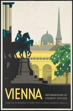 vintage travel poster - Vienna