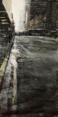 B-sides — Alejandro Quincoces(Basque, El incendio. City Landscape, Urban Landscape, Landscape Paintings, Urban Painting, Cityscape Art, Wow Art, Urban Sketching, City Art, Aesthetic Art