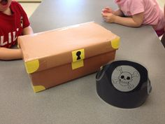 Treasure shapes: Turn a shoe box into a treasure chest. Make some pirate hats for the children to wear. Put different shapes in the treasure chest. The children take turns picking out a shape then tell the others which shape they found.
