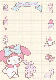 Sanrio Sticky Notes Notepad Hello Kitty My Melody SANRIO Stationary