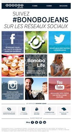 Bonobo - Novembre 2015 Objet : CAMILLE, Retrouvez-nous sur les réseaux sociaux !