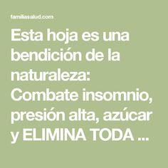 Esta hoja es una bendición de la naturaleza: Combate insomnio, presión alta, azúcar y ELIMINA TODA LA GRASA en la sangre! - FamiliaSalud.com