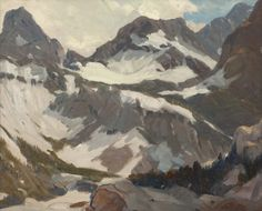 blastedheath:  Hanson Puthuff (American, 1875-1972), Sierra Nevada landscape. Oil on masonite, 16 x 20 in.