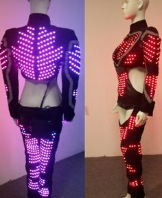 el wire costumes | ... EL Wire costumes, EL Wire costume. robot clothing, LED…