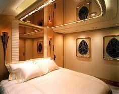 My plane's main bedroom...