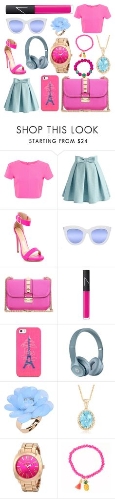 """summer look #9"" by cherlina-nelemans2003 on Polyvore featuring mode, Miss Selfridge, Chicwish, Quay, Valentino, NARS Cosmetics, Casetify, Dettagli, Ross-Simons en Devoted"