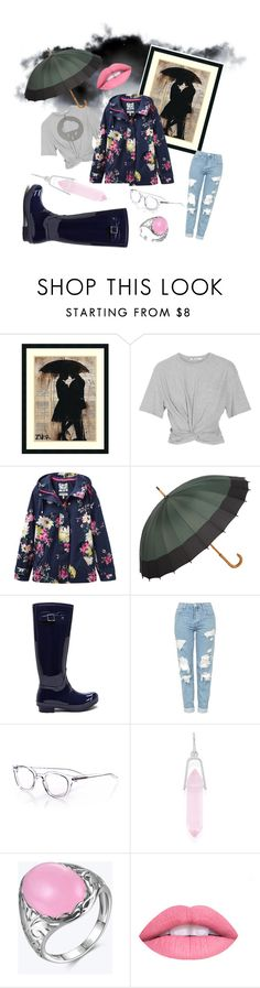 """raindrops falling on my head"" by emohoodiequeen ❤ liked on Polyvore featuring Amanti Art, T By Alexander Wang, Joules, Topshop, eyebobs and Alex and Ani"