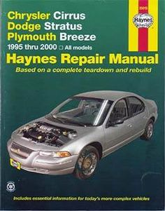 Buick mid size haynes repair manual free download pdf buick manual chrysler cirrus dodge stratus plymouth breeze haynes repair manual vehicle coverage chrysler cirrus dodge stratus and plymouth fandeluxe Image collections