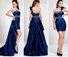 vestido azul marinho de 15 anos 2 em 1