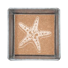 Trinket Tray with Removable Cork Insert-Starfish - Occasionally Made - Classic Gifts with a Trendy Twist!