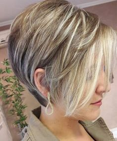 Thick short hair cuts, long pixie bob, short hair cuts for women, short . Pixie Bob Haircut, Short Bob Haircuts, Trendy Haircuts, Bob Haircut 2018, 2018 Haircuts, Haircut Short, Short Shaggy Hairstyles, Short Stacked Haircuts, Summer Haircuts