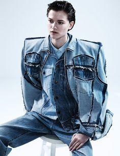 Denim on Denim | Dazed April Issue 2013 | by Josh Olins | Robbie Spencer Fashion Editor/Stylist