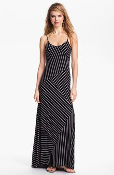 Banded Stripe Maxi Dress