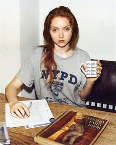 Lily Cole. Back to School.