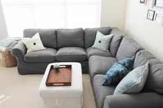 ikea ektorp sectional with nordvalla gray slipcover