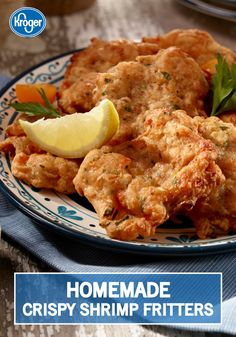 Easily add Spanish flair into your usual weeknight dinner routine with these Crispy Shrimp Fritters from Kroger's Taste of Spain. These flour-coated fish fritters make for a great appetizer recipe, too! Fish Recipes, Seafood Recipes, Great Recipes, Cooking Recipes, Favorite Recipes, Recipies, I Love Food, Good Food, Yummy Food