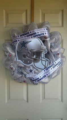 Dallas Cowboys wreath by: Jen's Creations