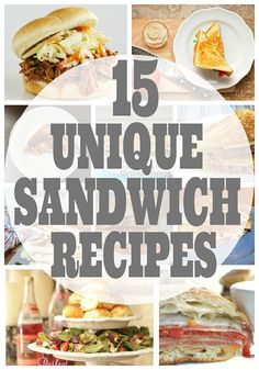 Love sandwiches? Here's 15+ Unique Sandwich Recipes that you're gonna want to try!