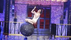 "Anne Hathaway playing ""Wrecking Ball"" on ""Lip Sync Battle"". EPIC. Photo: Hollywoodreporter.com"