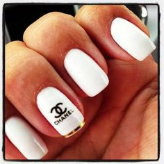 100 best nail arts that you will love 2017 page 81 of 100 ariana should get these nails since she loves chanel and white nail polish prinsesfo Gallery