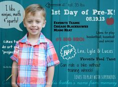 Creative First Day of School Photo Trends and Ideas on Pinterest | Pin Inspired