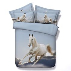 Cheap bedding set quilts, Buy Quality king size directly from China bedding set Suppliers: print bedspreads bedding sets quilt/duvet covers bedclothes sheet twin full queen king size woven white galloping horses boys Cheap Bedding Sets, Queen Bedding Sets, Comforter Sets, King Size Duvet Covers, Duvet Cover Sets, Cotton Bedding, Linen Bedding, Bed Linens, Cheap Linens