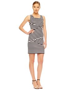 MICHAEL Michael Kors  Striped Paneled Dress.
