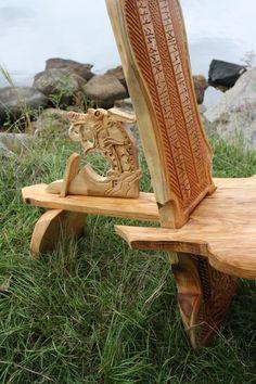 viking carving wikinger schnitzerei und m bel wooden. Black Bedroom Furniture Sets. Home Design Ideas