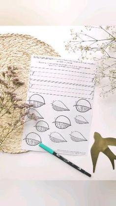 Feuille d'entraînement aux traits de bases, ici aux déliés, pour le brush lettering. À télécharger gratuitement sur mon site Making Tape, Tableaux D'inspiration, Lettering, Card Ideas, Father's Day, Drawing Letters, Brush Lettering