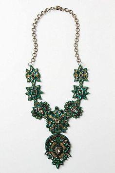 Amazing Handmade Beaded Jewelry | Wedding - Handmade Green Ullapool Necklace by Deepa Gurnani