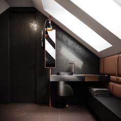 STUDIOe / RESETKOVA bathroom Bathroom Lighting, Bathtub, Mirror, Studio, Furniture, Home Decor, Bathroom Light Fittings, Standing Bath, Bathroom Vanity Lighting