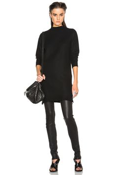 Image 1 of Rick Owens Boiled Cashmere Sweater in Black
