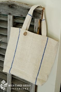 Helpful information for finding and repurposing antique grain sacks.