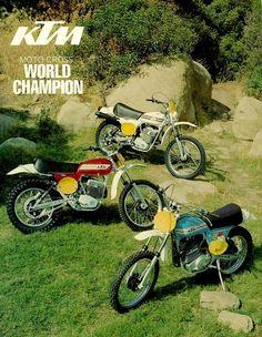 KTM GS 1975 Tris of stars...