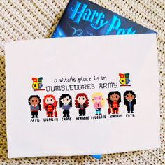 A witchs place is in Dumbledores Army. Stitch your favorite witches from the Harry Potter universe in this women-powered pattern. The pattern includes Parvati Patil, Ginny Weasley, Cho Chang, Hermione Granger, Luna Lovegood, Angelina Johnson, and Padma Patil. It also includes the