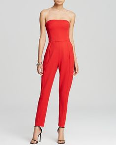 Pin for Later: Start the New Year in a Party Jumpsuit or Playsuit Black Halo Jumpsuit Iris Strapless Black Halo Jumpsuit Iris Strapless (£221)