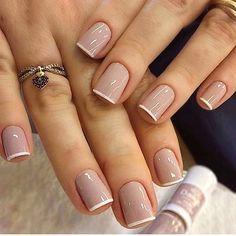 Classy Nails, Stylish Nails, Simple Nails, Trendy Nails, Simple Elegant Nails, Diy Ongles, Bridal Nails Designs, Nagellack Trends, Manicure E Pedicure