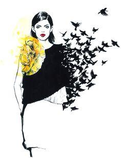 diana kuksa fashion illustration