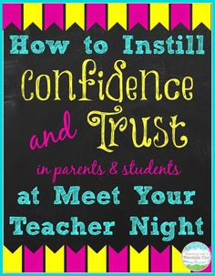 Building Rapport on Meet Your Teacher Night.  Simple strategies to build relationships from the moment you meet parents and students.