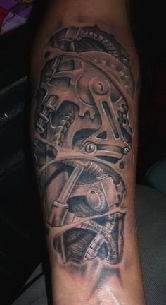 Gear Tattoo Designs | Urlhttpwwwtattooshuntcombiomechanical Gears Tattoo On Arm