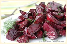 Roasted Beets with Champagne Vinegar by nourishnetwork #Beets