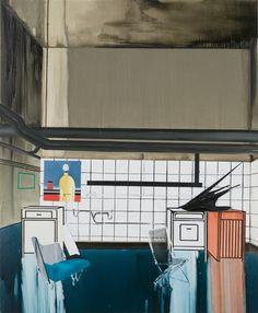 Transitional Home Farah Atassi Date : 2009 Support : Peinture Dimension : 195 x 160 cm Huile sur toile