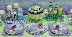 princess tiana party ideas | Find Princess and the Frog Party Supplies , up to 50% off tableware ...