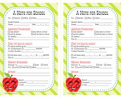 printable school notes from anythingbutperfec...