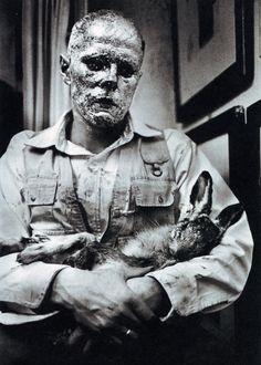 Joseph Beuys and hare