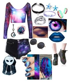 """Celestial"" by danagrove on Polyvore featuring Full Tilt, Footnotes, Me & Zena, Bling Jewelry, Lime Crime, Current Mood, West Coast Jewelry and Y.R.U."