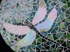 Mosaic Lazy Susan Dragonfly on Green and Teal 14.5 by HeatherMBC, $115.00